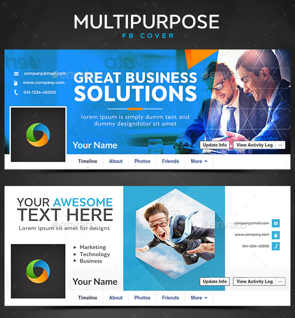 Multipurpose graphic Facebook template
