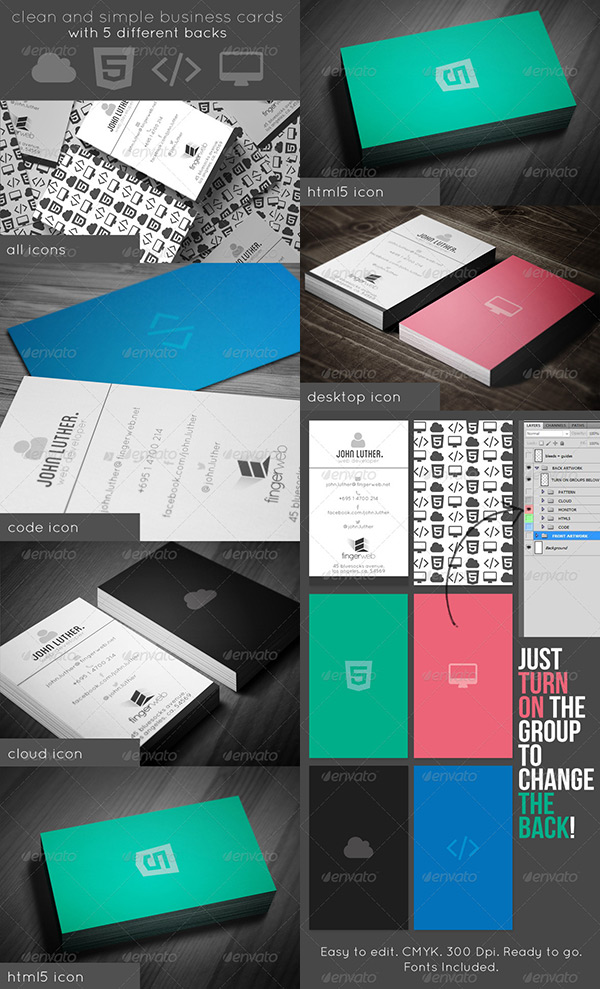 Noteworthy Back Of Business Cards Ideas - Sample of business card template