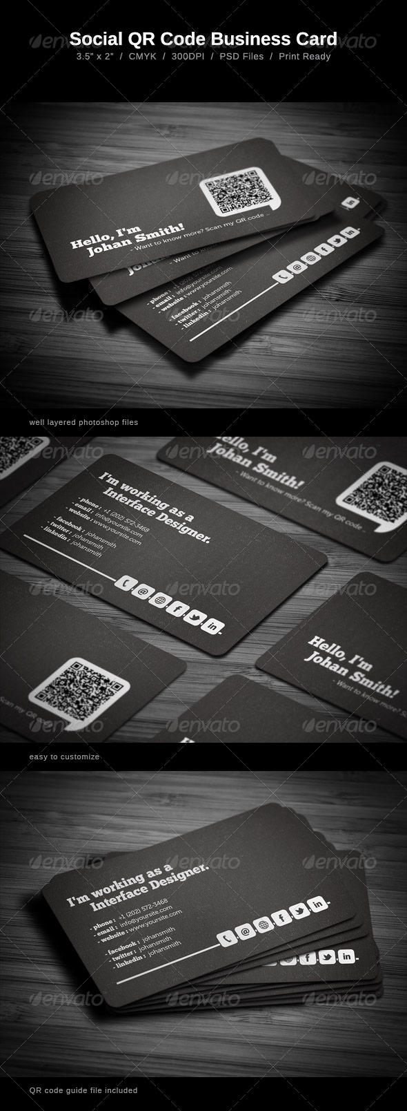 5 noteworthy back of business cards ideas business card qr back of card template reheart Gallery
