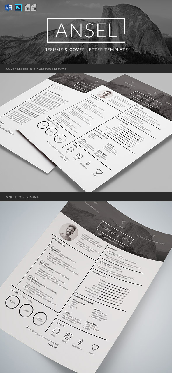 Graphic resume design template