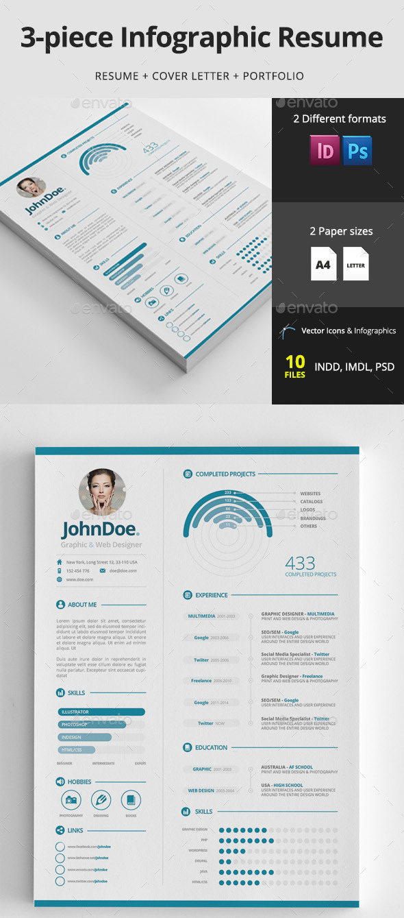15 creative infographic resume templates envato tuts business article