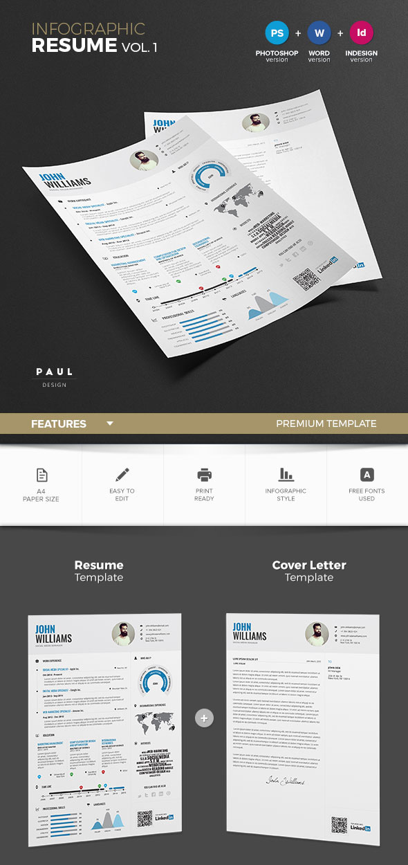 18 creative infographic resume templates for 2018 infographic resume template vol1 maxwellsz