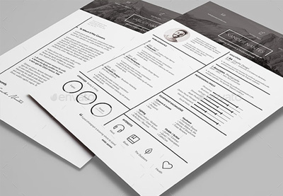 Creative infographic resume template preview