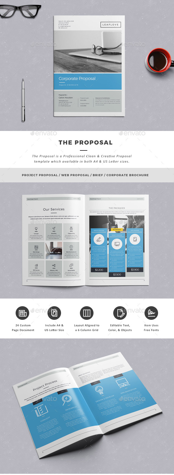 Clean creative business proposal template
