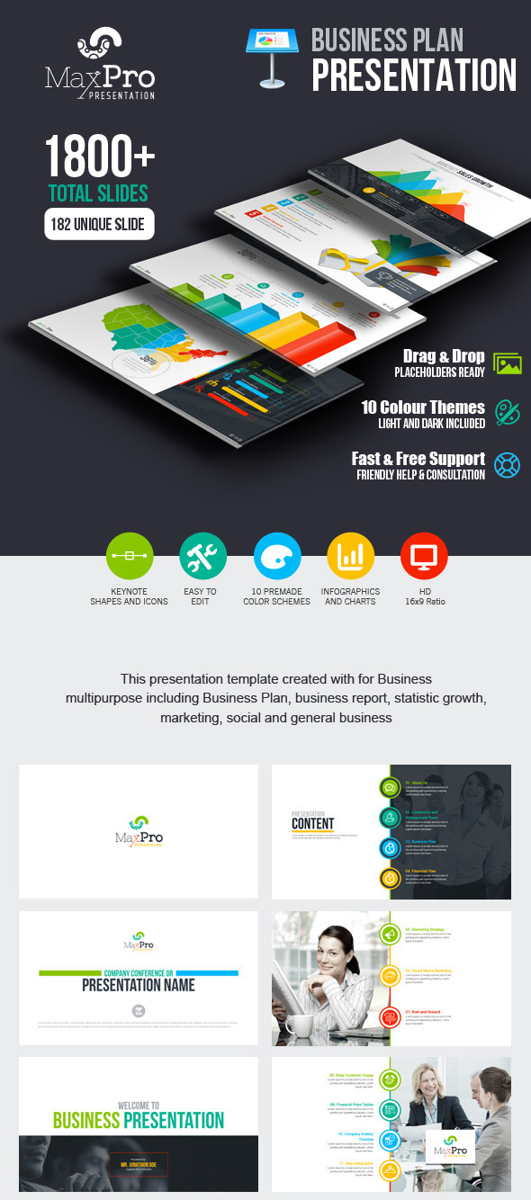 Best Business Keynote Presentation Template