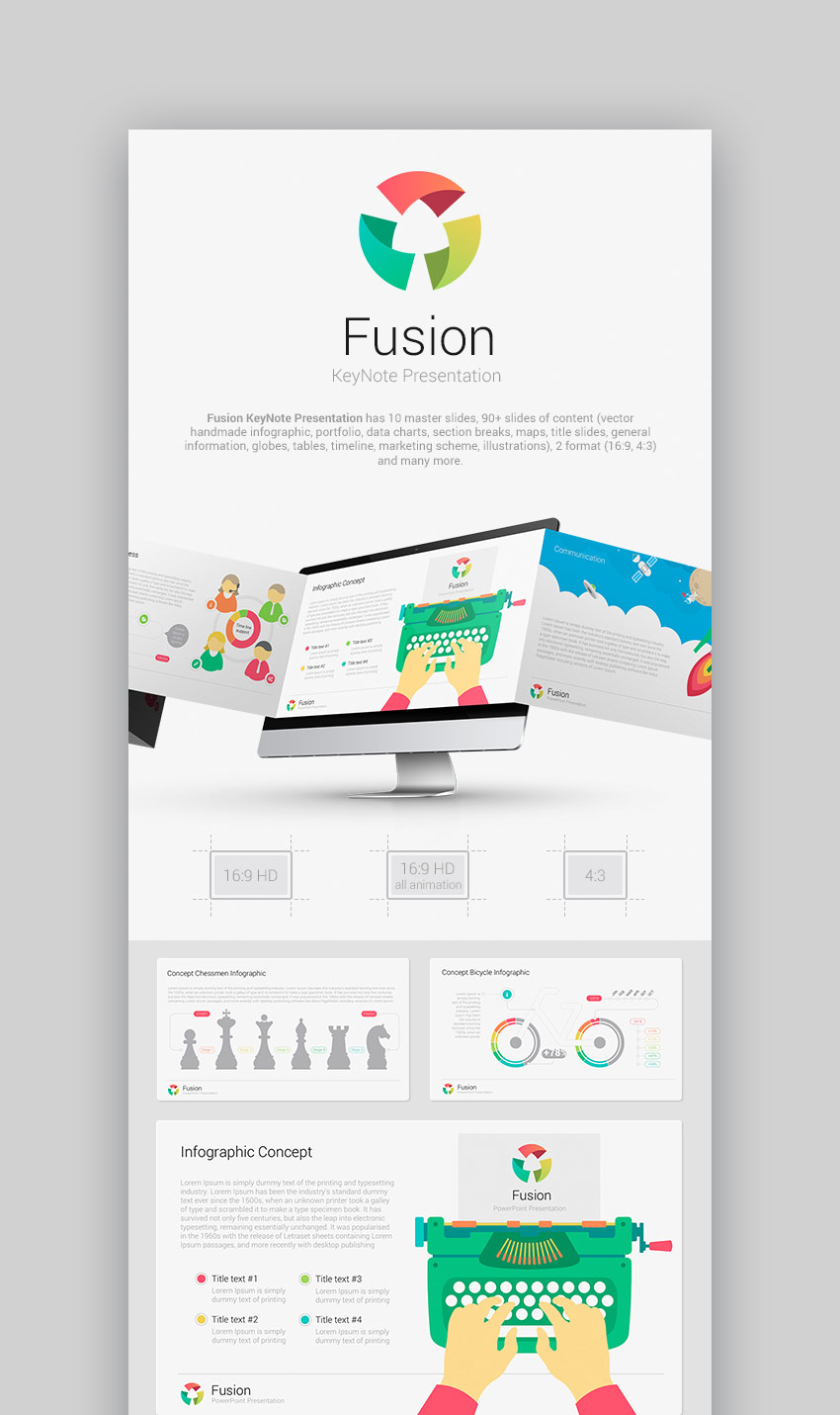 15 best keynote presentation templates for mac users fusion keynote template for business presentations toneelgroepblik Image collections