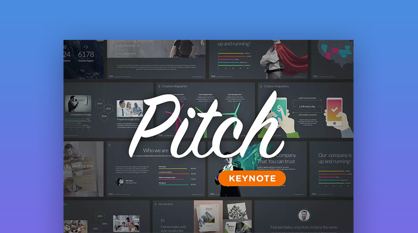 Pitch Pro Keynote Business Presentation Template Mac
