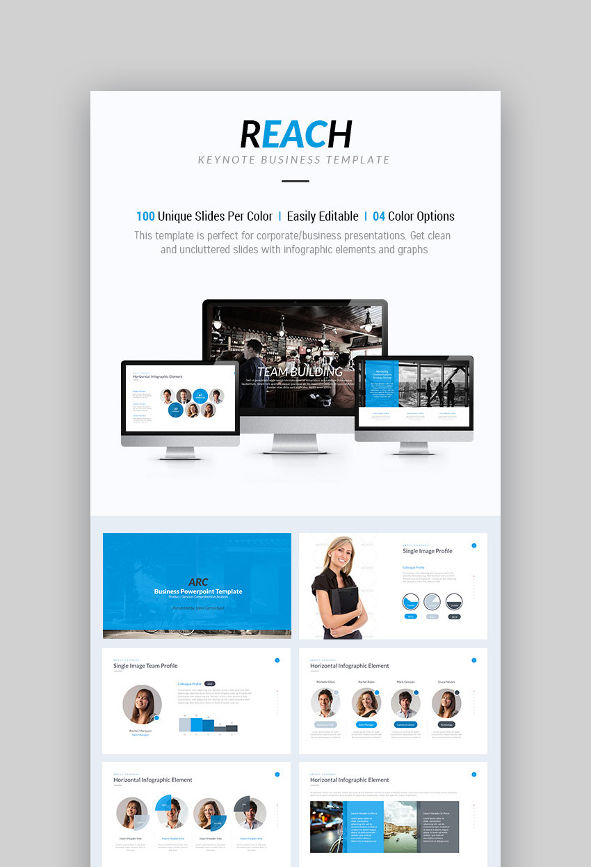 Reach   Keynote Business Presentation Template