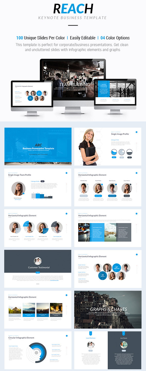 Reach Keynote Presentation Template