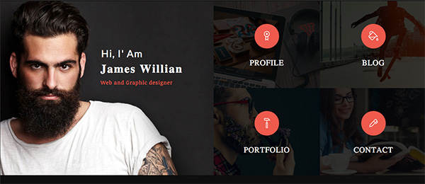 tiled online resume website template - Resume Web Template