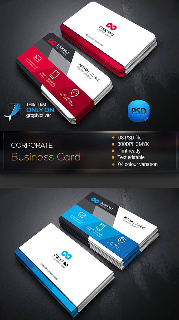 15 premium business card templates in photoshop illustrator corporate business card template angled psd reheart Choice Image