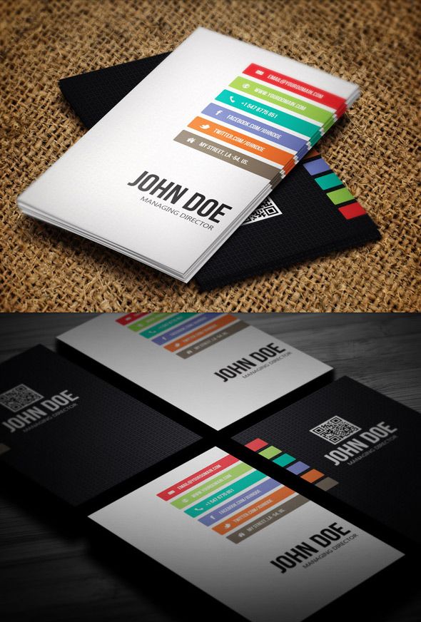 Minimal business card photoshop design