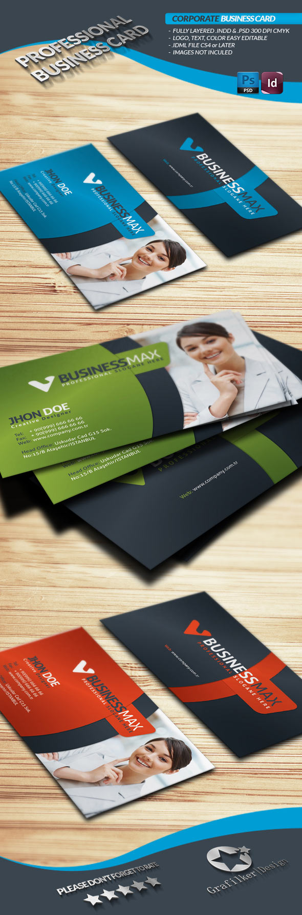 indesign premiumbusiness card template premium photo business