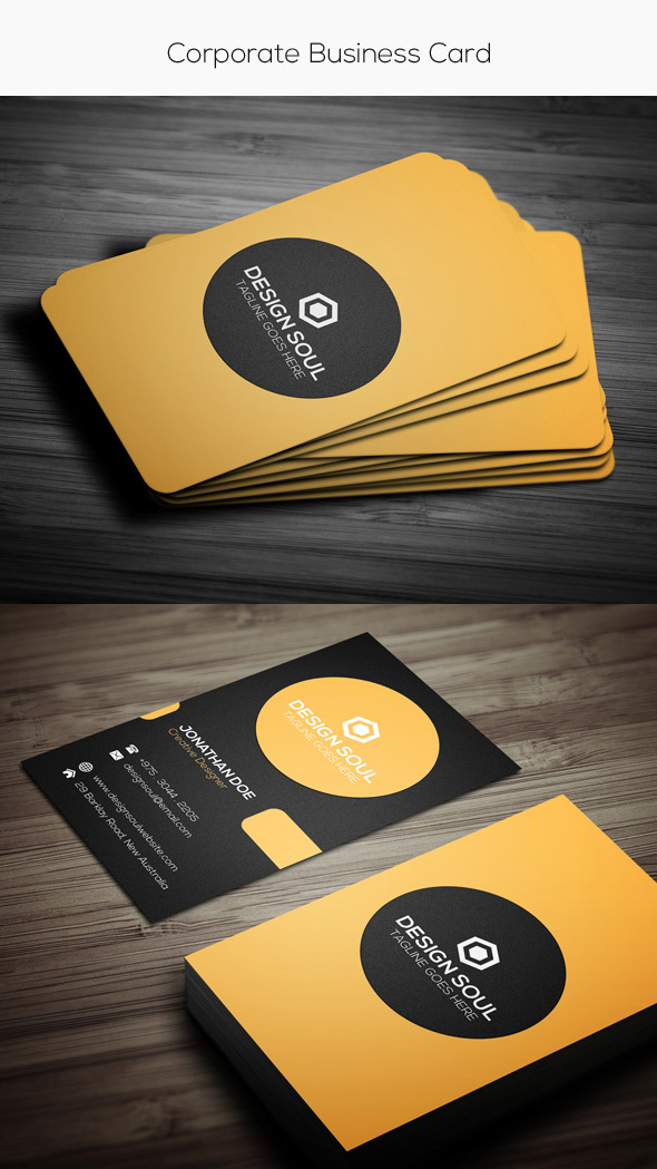 15 premium business card templates in photoshop illustrator simple corporate card template reheart Gallery