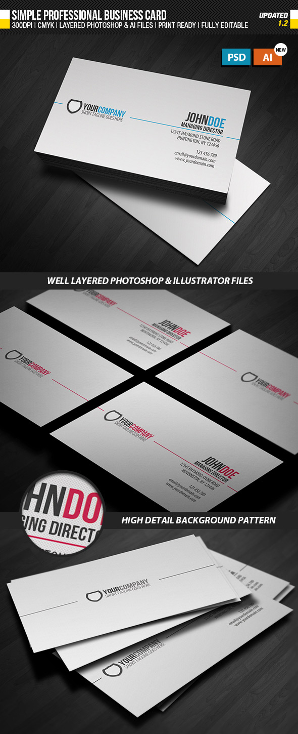 15 premium business card templates in photoshop illustrator simple aivector format business card template reheart Choice Image