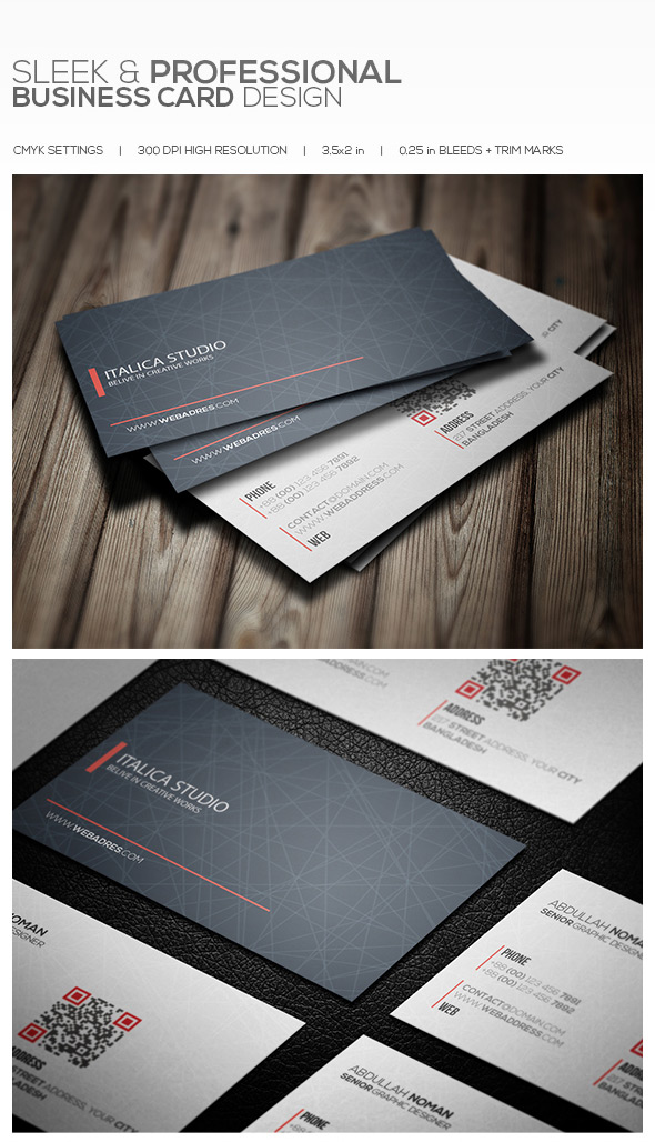 15 premium business card templates in photoshop illustrator creative pro sleek business cards reheart Gallery