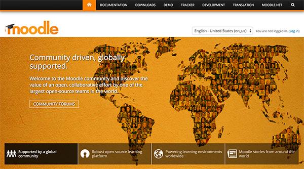 Moodle homepage
