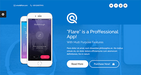 Flare Landing Page Theme