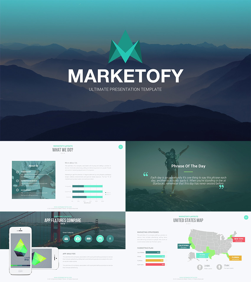 Marketofy Best Google Slides Theme Design 2016