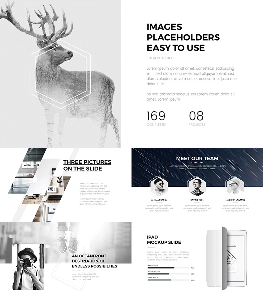 Clean Minimal 2016 Google Slides Presentation Theme