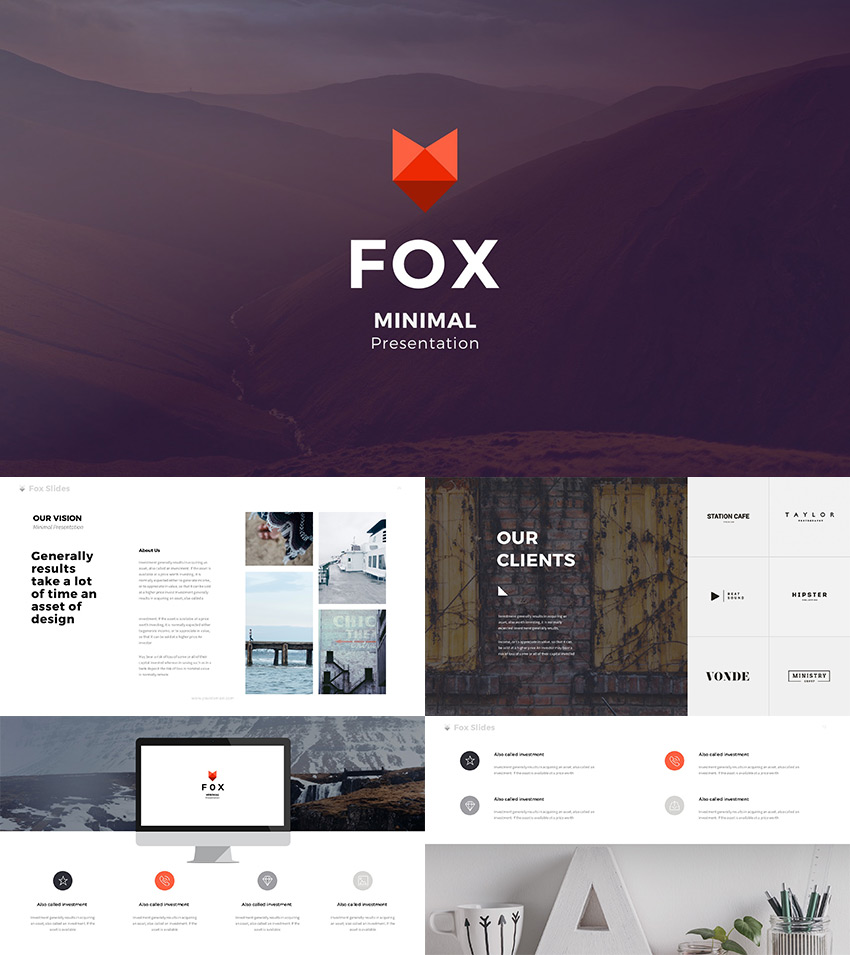 Best new presentation templates of 2016 powerpoint keynote fox best creative google slides template 2016 toneelgroepblik Gallery