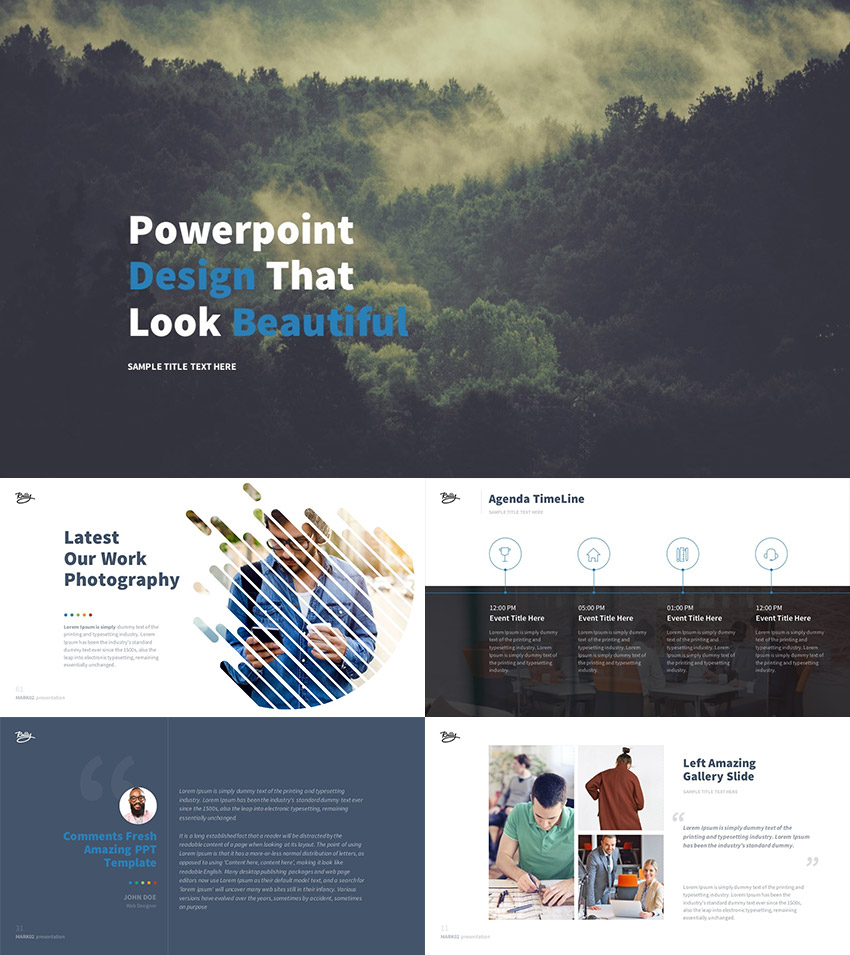 best new presentation templates of 2016 (powerpoint, keynote, Modern powerpoint