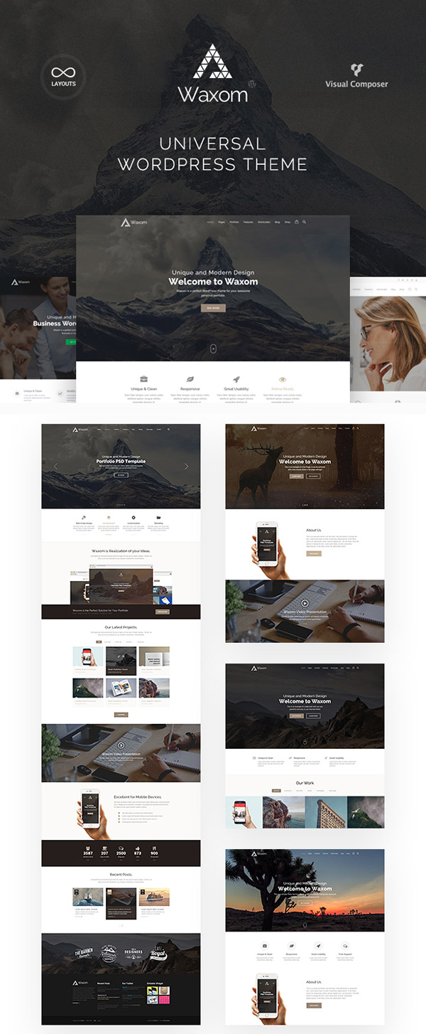 Waxom New WordPress Theme 2016