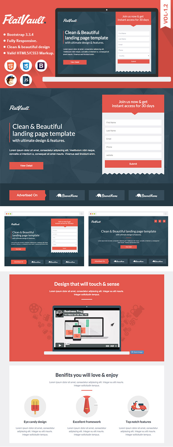 10 Best Bootstrap Landing Page Templates With Responsive Designs