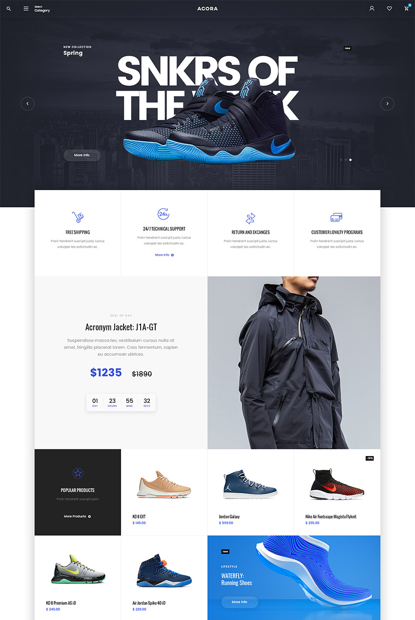 Agora Awesome eCommerce PSD Website Template Design