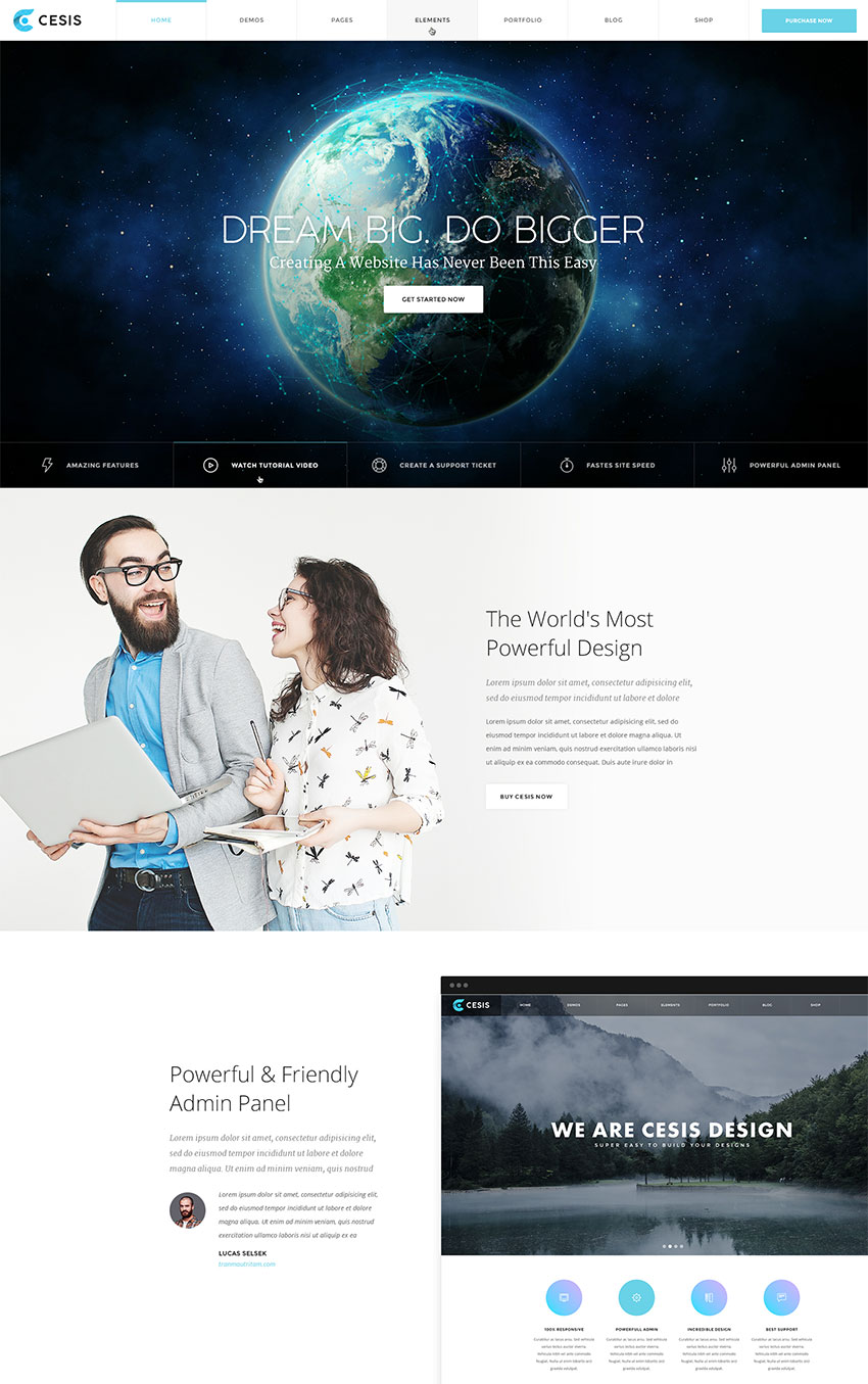 Cesis Ultimate Multipurpose PSD Website Template Design