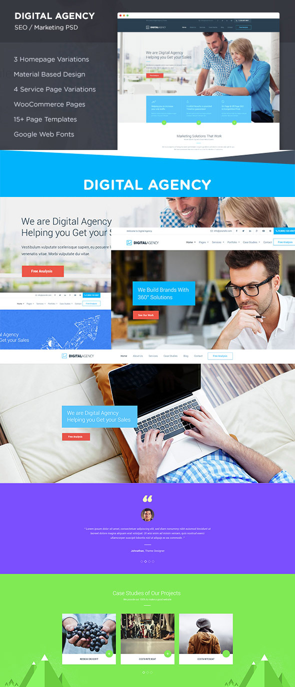 Digital Agency PSD Site Template