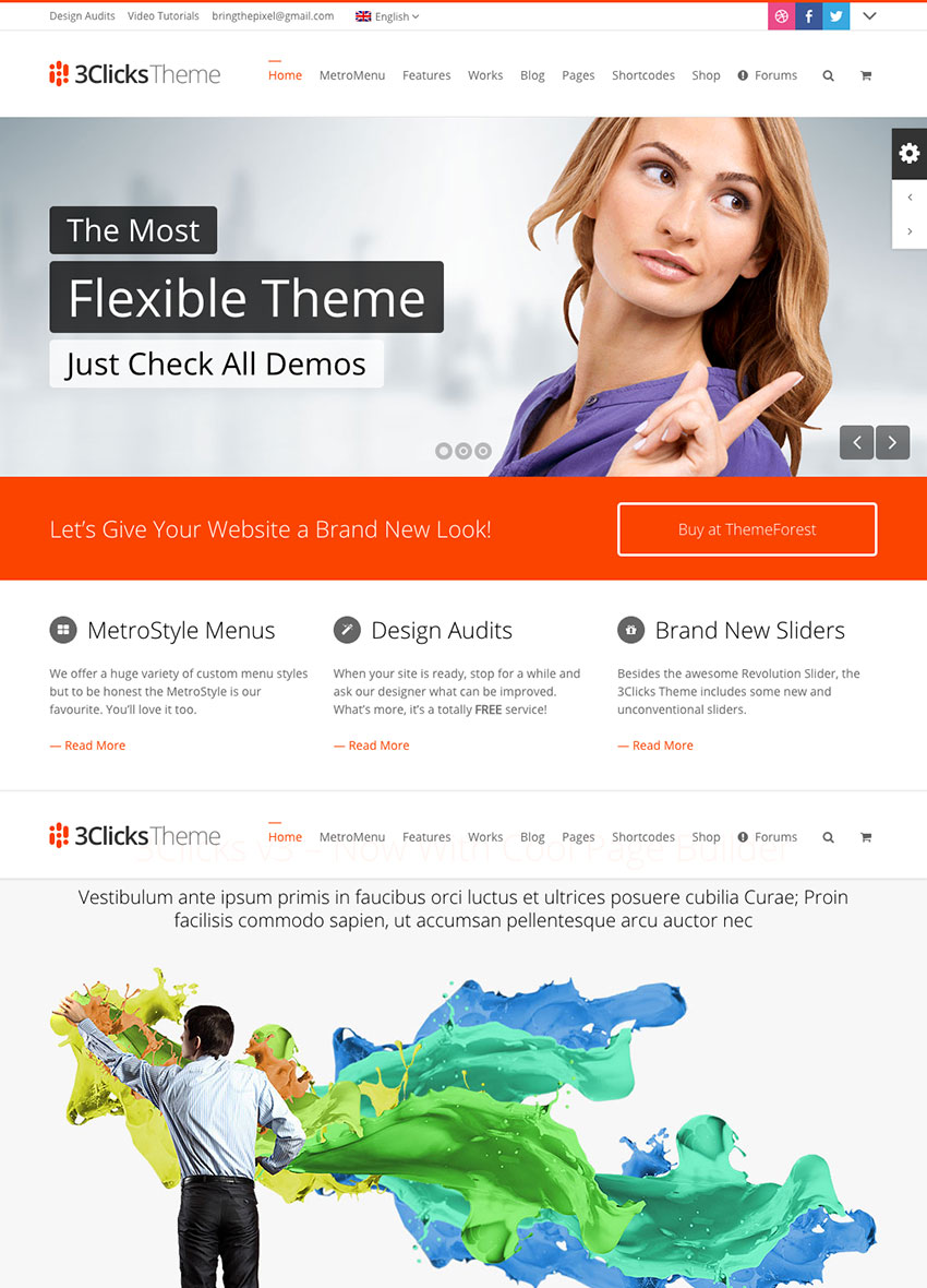 3Clicks Best Flexible Corporate WordPress Theme