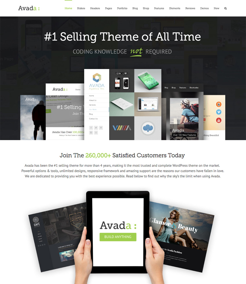Avada WordPress Business Theme for Corporate Sites