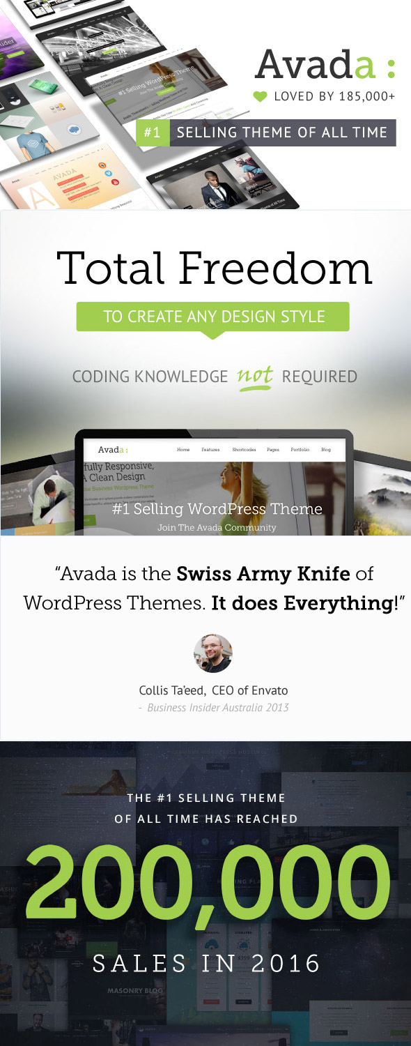Avada Wodpress Business Theme