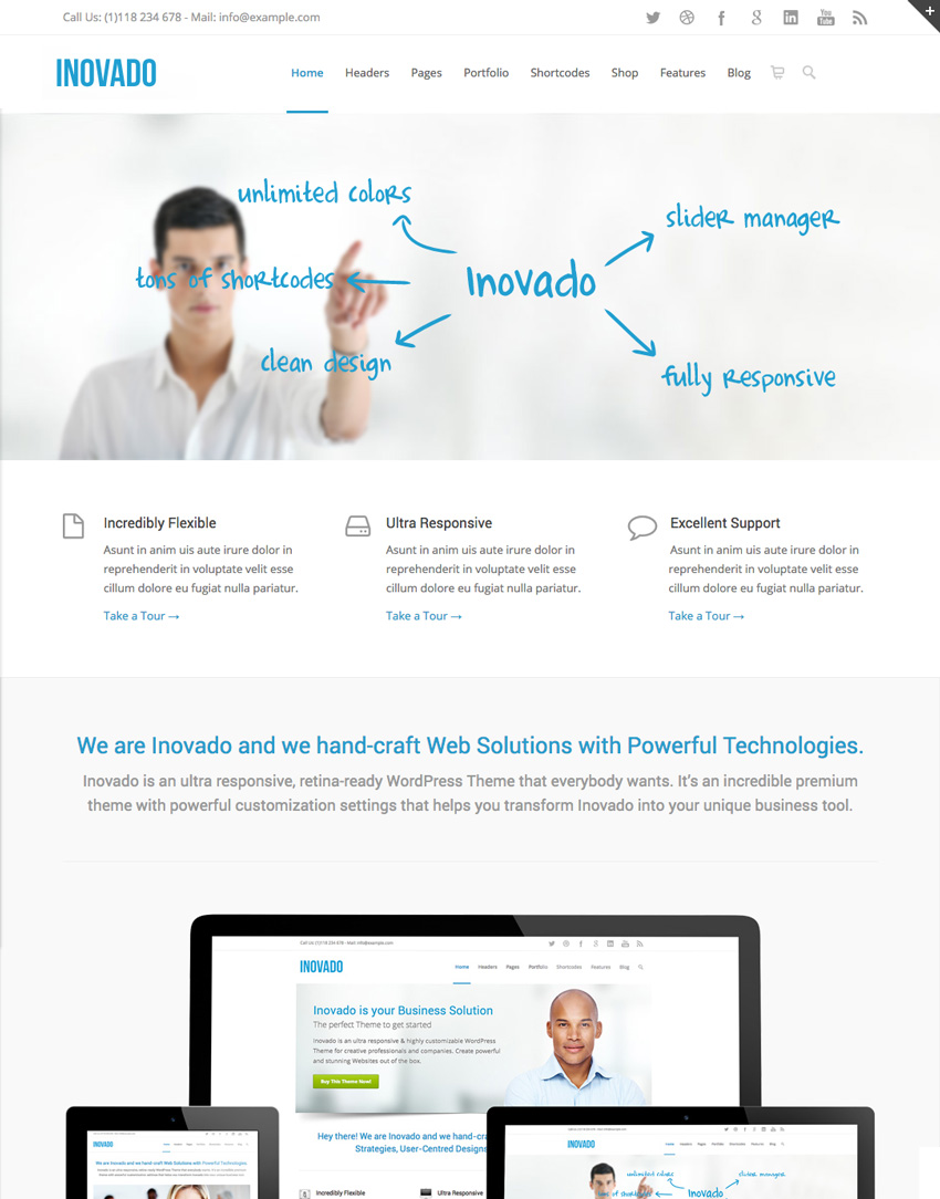 Inovado Flexible Corporate WordPress Business Theme