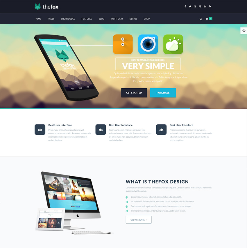 TheFox - Corporate Business WordPress Theme