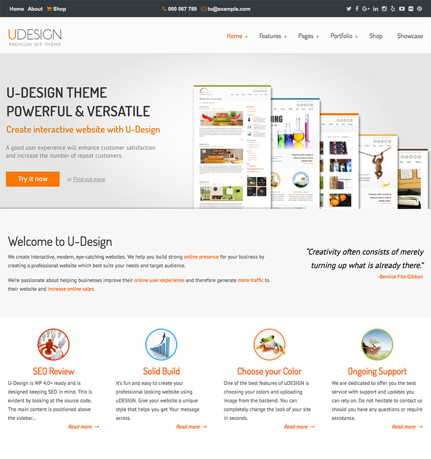 uDesign WordPress Corporate Business Theme