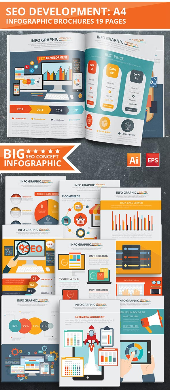 SEO Template Design Infographic