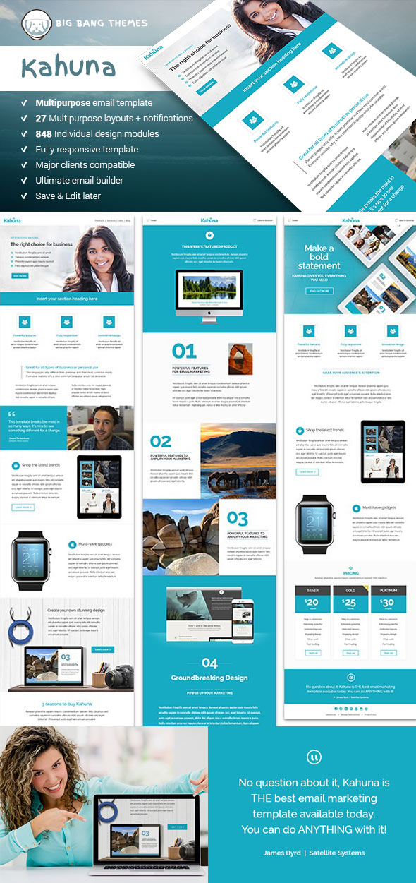 Responsive Email Newsletter TemplatesFor Your Next Marketing