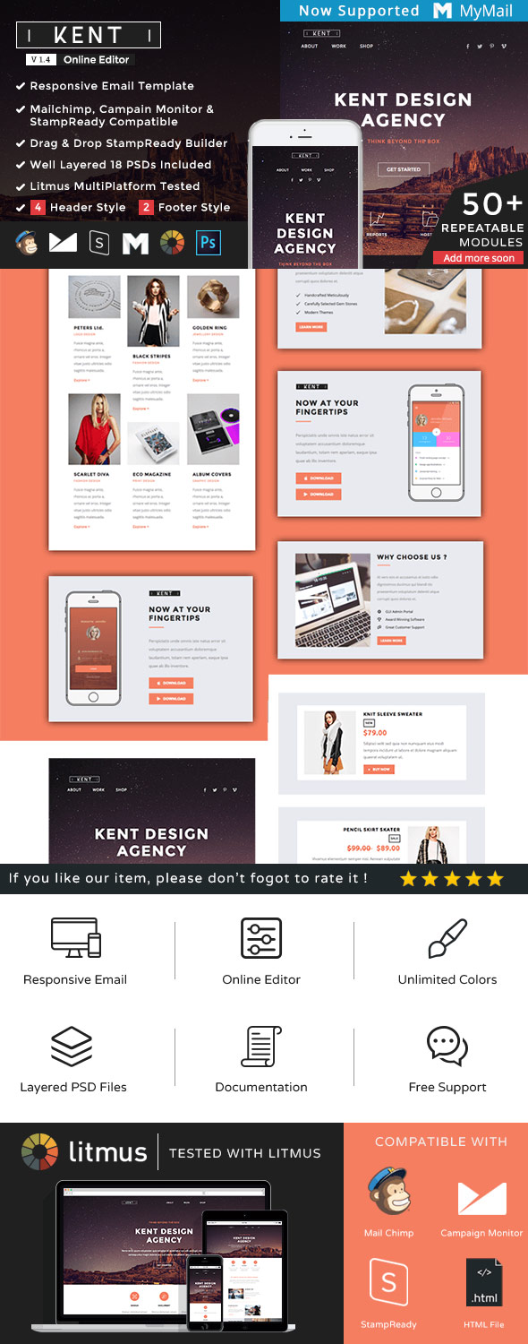 Responsive Email Newsletter TemplatesFor Your Next Marketing - Email brochure template
