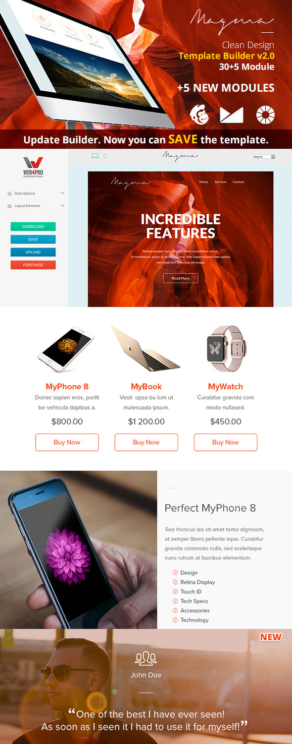 20 responsive email newsletter templatesfor your next marketing magma responsive email template spiritdancerdesigns Images