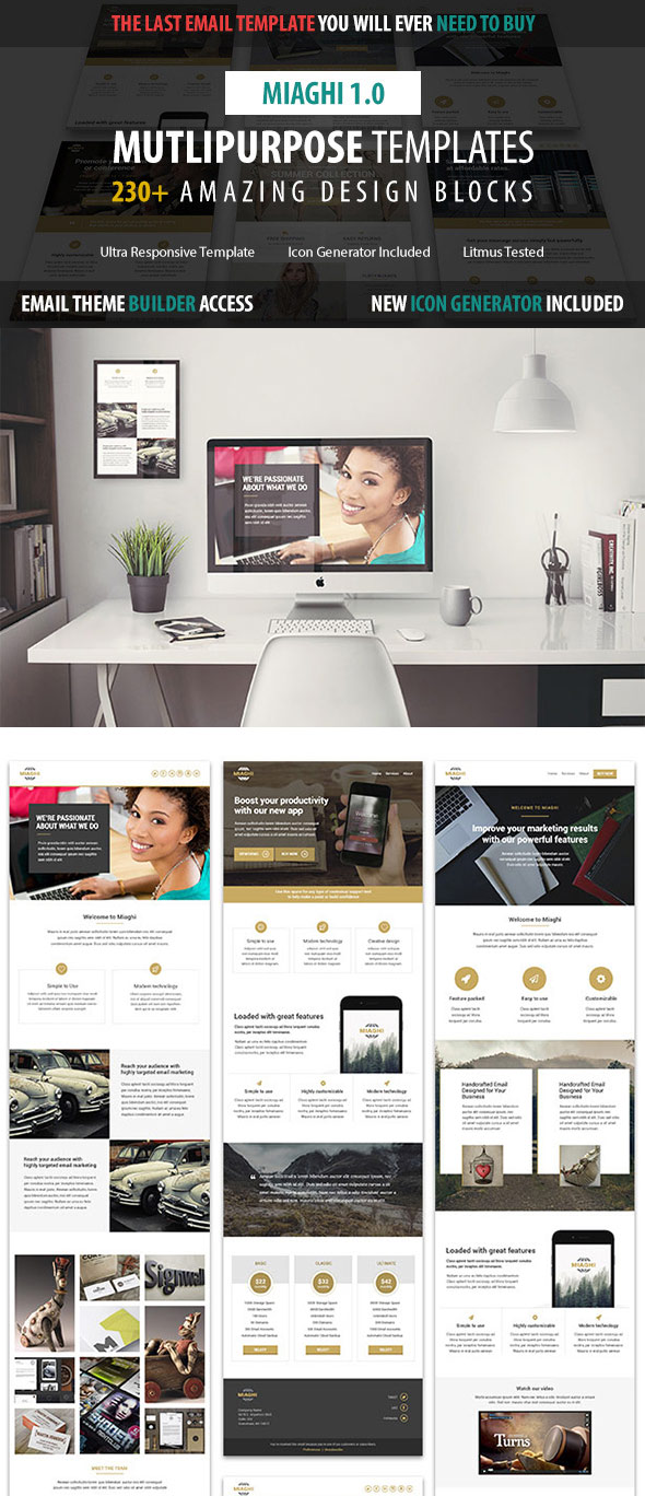 Miaghi - Multipurpose Email Template Builder Access