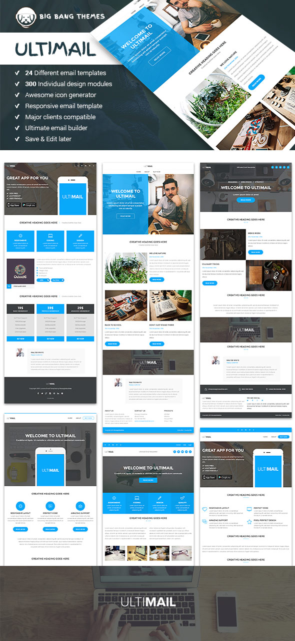 20 responsive email newsletter templates for your next for How to create an email newsletter template