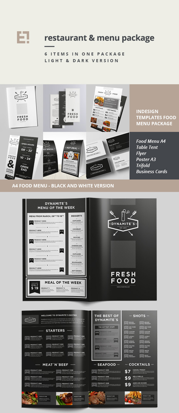 27 Restaurant Menu Templates With Creative Designs – Sample Cafe Menu Template