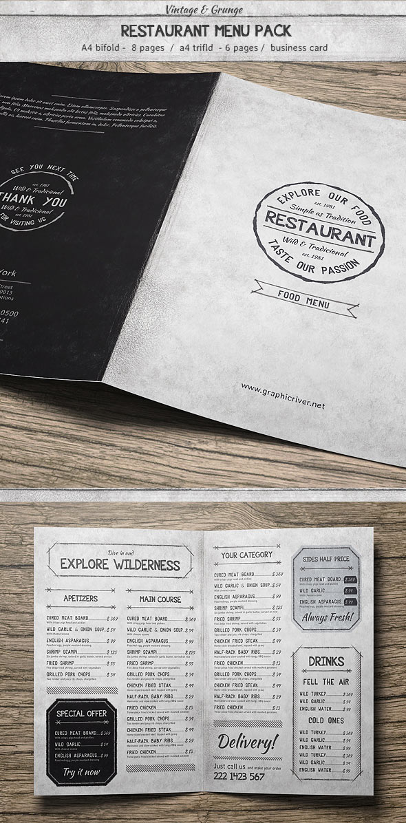 Vintage Food Menu Pack