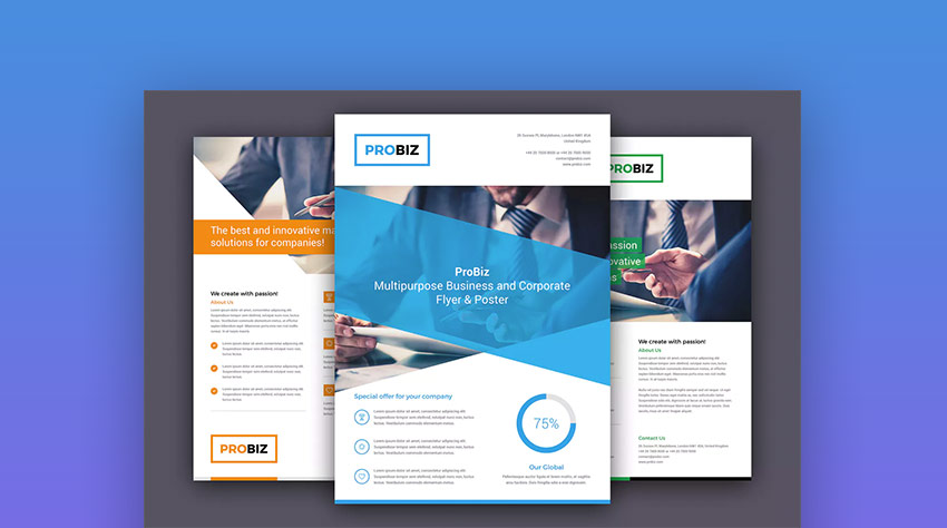 Pro Business Flyer Design Template - Trending Now
