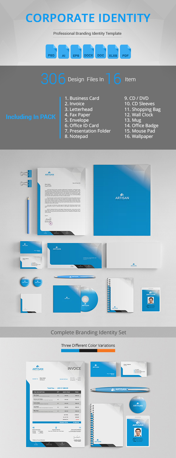 Corporate Identity Awesome Branding Kit