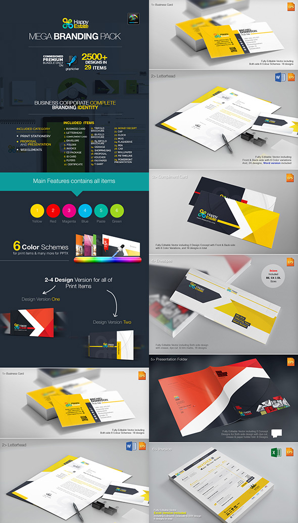 Mega Corporate Branding Identity Pack