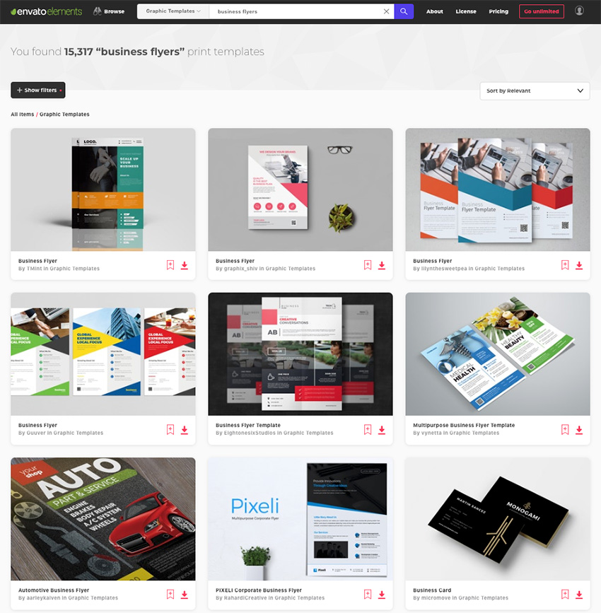Choose between thousands of creative example of business flyers on Envato Elements