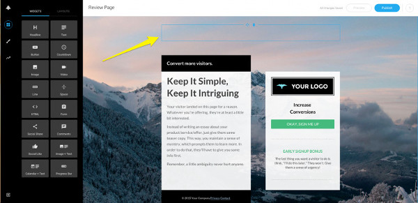 Leadpages interface